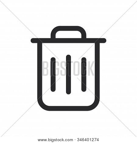 Garbage Icon Isolated On White Background. Garbage Icon In Trendy Design Style For Web Site And Mobi