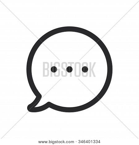 Chat Icon Isolated On White Background. Chat Icon In Trendy Design Style For Web Site And Mobile App