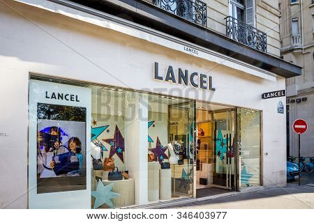 Paris/france - September 10, 2019 : The Lancel Luxury Leather Goods Store On Champs-elysees Avenue