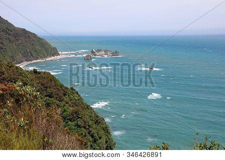 Coastline. Te Wahipounamu. Westland National Park. New Zealand
