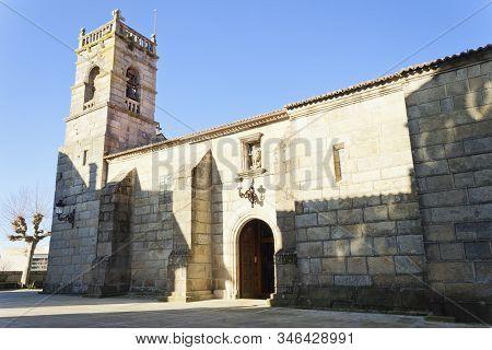 Church Of San Miguel De Bouzas, Beside O Adro Beach In Vigo, Pontevedra, Spain.