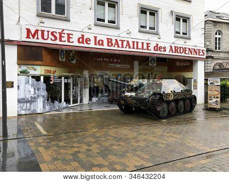 La Roche, Belgium - October 20, 2019: Entrance Of The Battle Of The Bulge Museum In La Roche-en-arde