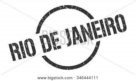 Rio De Janeiro Stamp. Rio De Janeiro Grunge Round Isolated Sign