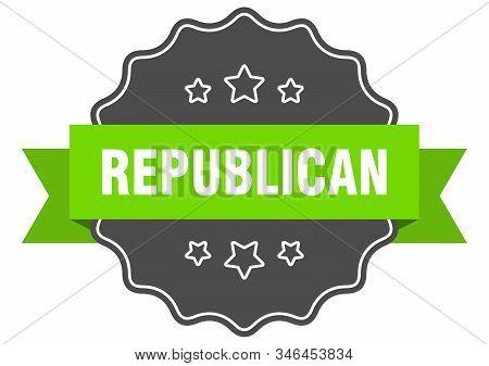 Republican Isolated Seal. Republican Green Label. Republican