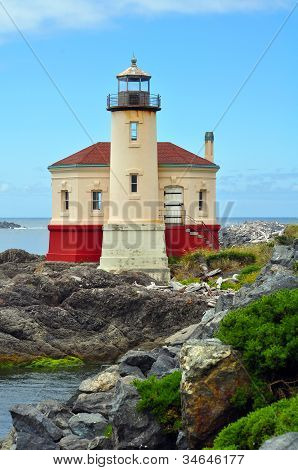 Lighthouse On The Pacific Coast