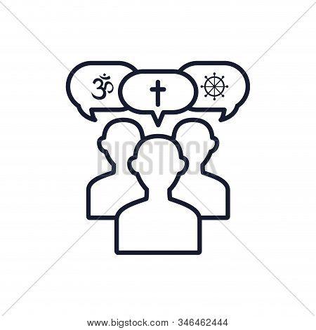 Avatars With Symbols Inside Bubbles Design, Religion Culture Belief Religious Faith God Spiritual Me