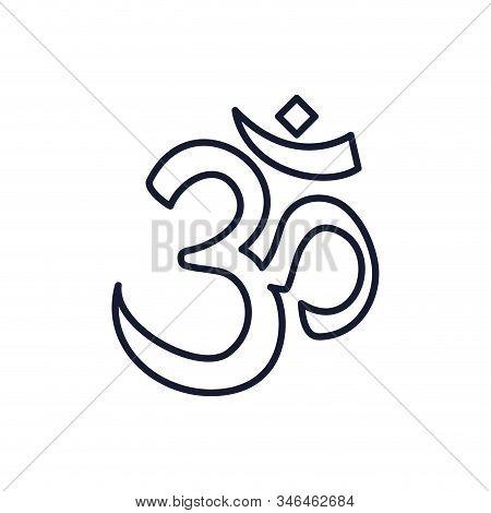Hinduism Aum Letter Symbol Design, Religion Culture Belief Religious Faith God Spiritual Meditation