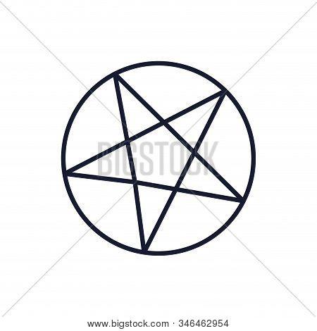 Satanism Symbol Design, Religion Culture Belief Religious Faith God Spiritual Meditation And Traditi