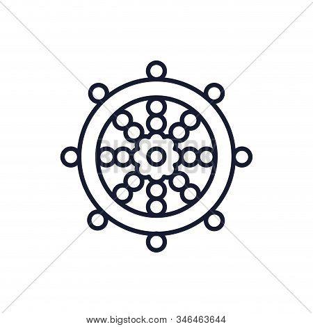 Buddhism Wheel Of Dharma Symbol Design, Religion Culture Belief Religious Faith God Spiritual Medita