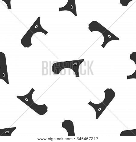 Grey Car Fender Icon Isolated Seamless Pattern On White Background. Vector Illustration