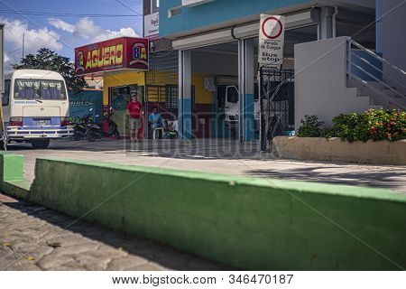 Bus Stop In Bayahibe
