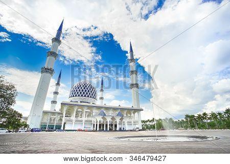 The Famous Blue Mosque Named Masjid Sultan Salahuddin Abdul Aziz Shah In Shah Alam Selangor, Kuala L