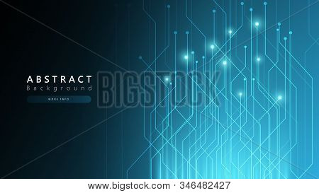 Blue Abstract Technology Cyberspace Background,speed Data Transfer Background,technology Communicati