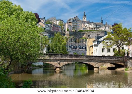 Alzette River In The Grund, Luxembourg