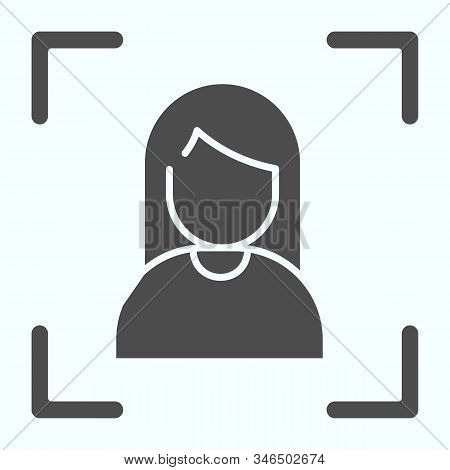 Focusing Solid Icon. Camera Focusing Vector Illustration Isolated On White. Focus On Portrait Glyph