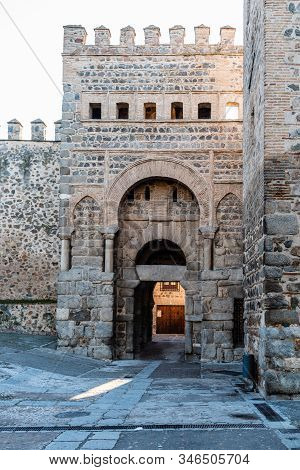 The Gate Of Alfonso Vi In The Historic Ramparts Of Toledo, Spain