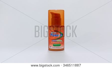 Nagybajcs, Hungary 09.18.2019 Gillette Fusion, After Shave Balm, Hydra Shoothe