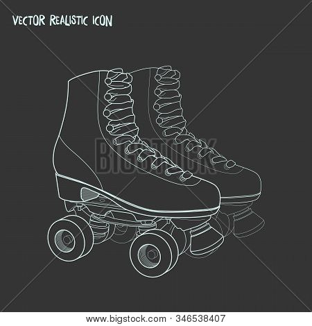 Roller Skate Icon Line Element. Vector Illustration Of Roller Skate Icon Line Isolated On Clean Back