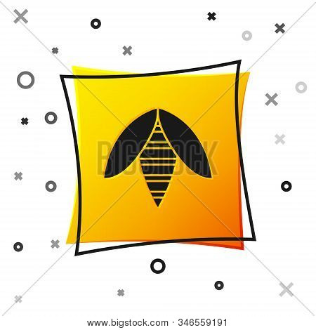 Black Bee Icon Isolated On White Background. Sweet Natural Food. Honeybee Or Apis With Wings Symbol.