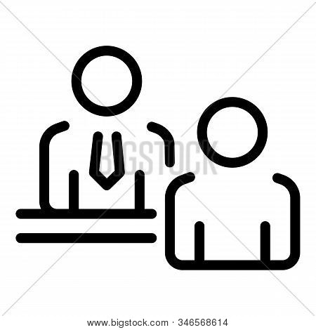 Business Partner Icon. Outline Business Partner Vector Icon For Web Design Isolated On White Backgro