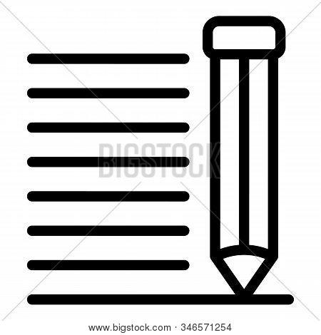 Storyteller Pen Icon. Outline Storyteller Pen Vector Icon For Web Design Isolated On White Backgroun