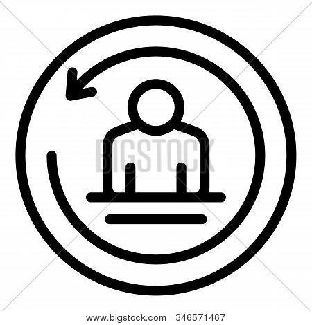 Modern Storyteller Icon. Outline Modern Storyteller Vector Icon For Web Design Isolated On White Bac