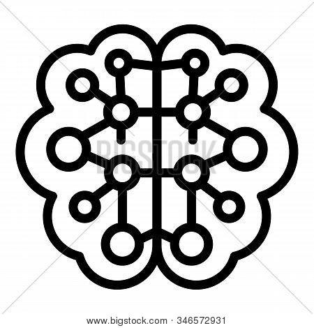 Future Ai Brain Icon. Outline Future Ai Brain Vector Icon For Web Design Isolated On White Backgroun