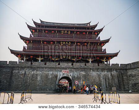 Chaozhou/china-02 April 2018:anceint City Wall Near Ancient Old Town In Chaozhou City China.ancient