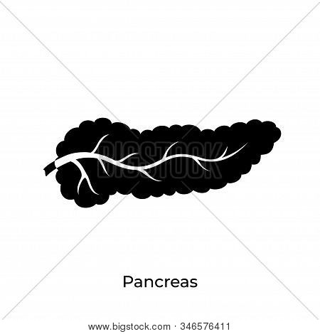 Vector Isolated Illustration Of Pancreas Anatomy. Human Digestive System Icon. Healthcare Medical Ce