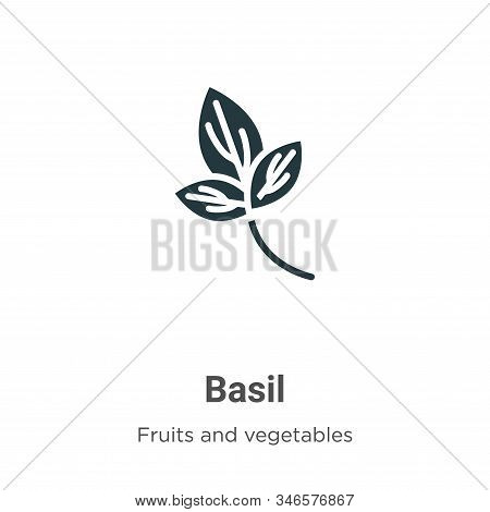 Basil icon isolated on white background from fruits and vegetables collection. Basil icon trendy and