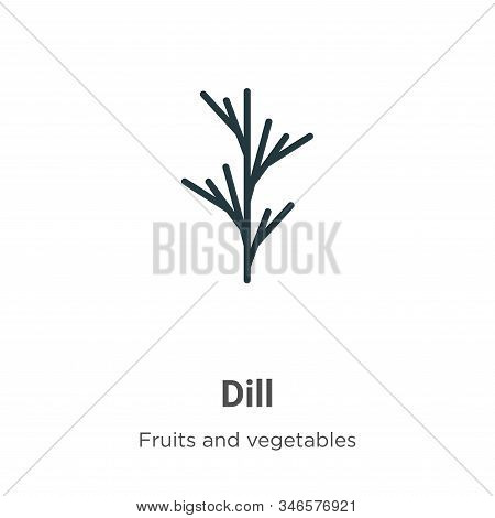 Dill icon isolated on white background from fruits and vegetables collection. Dill icon trendy and m