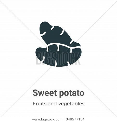 Sweet potato icon isolated on white background from fruits and vegetables collection. Sweet potato i