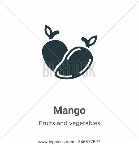 Mango icon isolated on white background from fruits collection. Mango icon trendy and modern Mango s