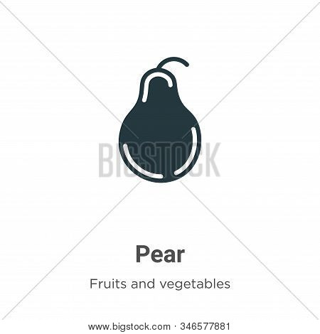 Pear icon isolated on white background from fruits collection. Pear icon trendy and modern Pear symb