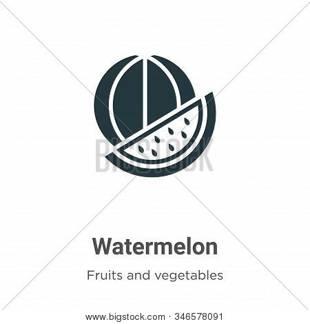 Watermelon icon isolated on white background from fruits collection. Watermelon icon trendy and mode