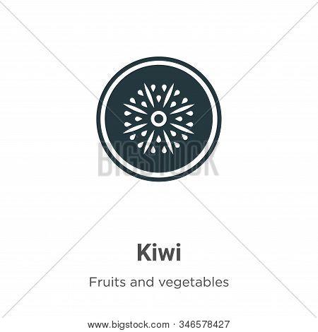 Kiwi icon isolated on white background from fruits collection. Kiwi icon trendy and modern Kiwi symb