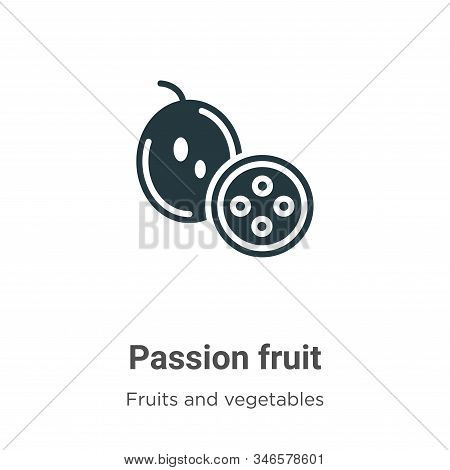 Passion fruit icon isolated on white background from fruits collection. Passion fruit icon trendy an