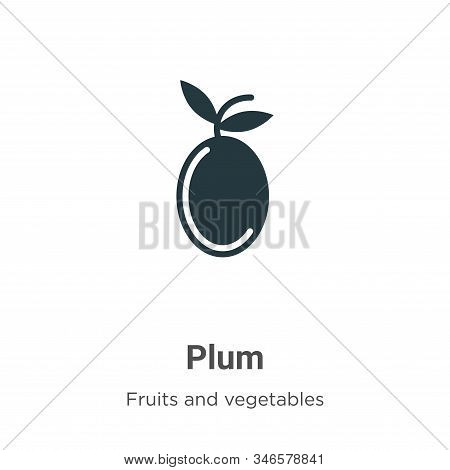 Plum icon isolated on white background from fruits collection. Plum icon trendy and modern Plum symb