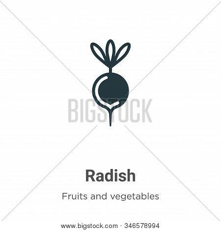 Radish icon isolated on white background from fruits collection. Radish icon trendy and modern Radis