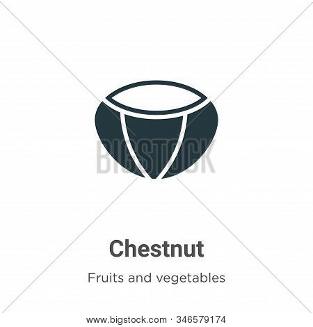 Chestnut icon isolated on white background from fruits collection. Chestnut icon trendy and modern C