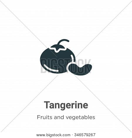 Tangerine icon isolated on white background from fruits collection. Tangerine icon trendy and modern