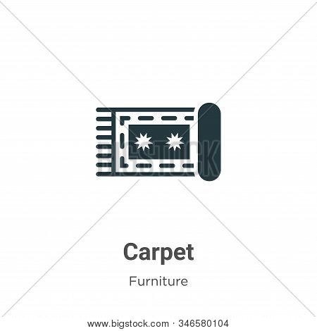 Carpet icon isolated on white background from furniture collection. Carpet icon trendy and modern Ca