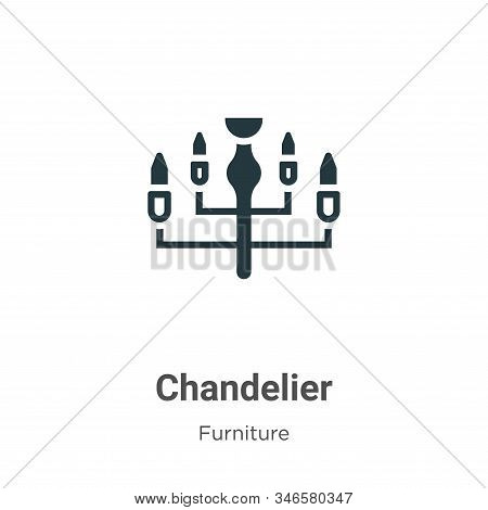 Chandelier icon isolated on white background from furniture collection. Chandelier icon trendy and m