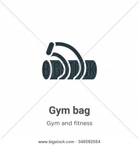 Gym bag icon isolated on white background from gym and fitness collection. Gym bag icon trendy and m