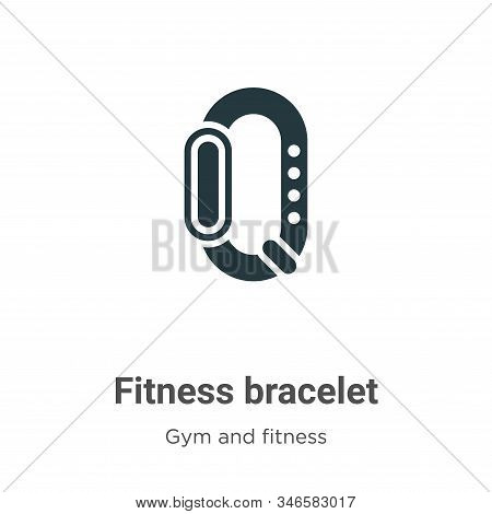 Fitness Bracelet Glyph Icon Vector On White Background. Flat Vector Fitness Bracelet Icon Symbol Sig