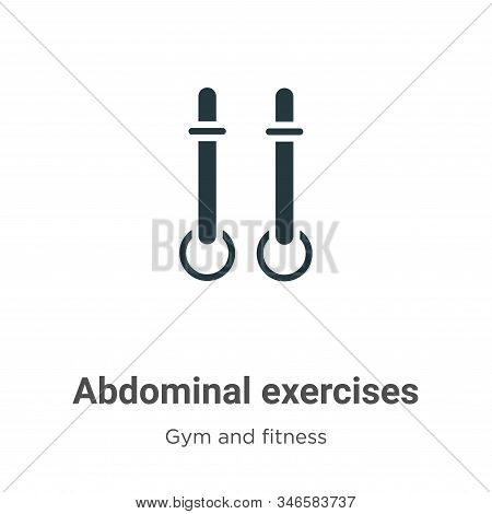 Abdominal exercises icon isolated on white background from gym and fitness collection. Abdominal exe