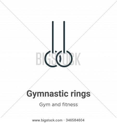 Gymnastic rings icon isolated on white background from gym and fitness collection. Gymnastic rings i
