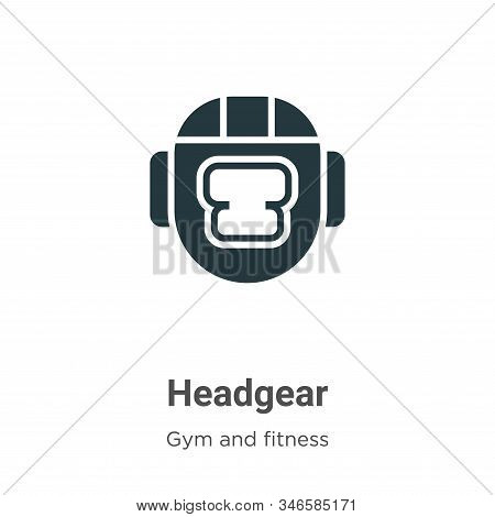 Headgear icon isolated on white background from gym and fitness collection. Headgear icon trendy and