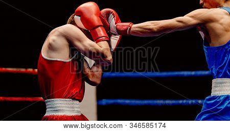 Boxer Lands Left Jab To Head Through His Gloves