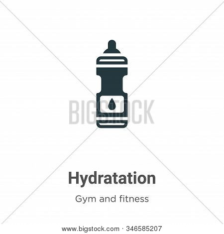 Hydratation icon isolated on white background from gym and fitness collection. Hydratation icon tren